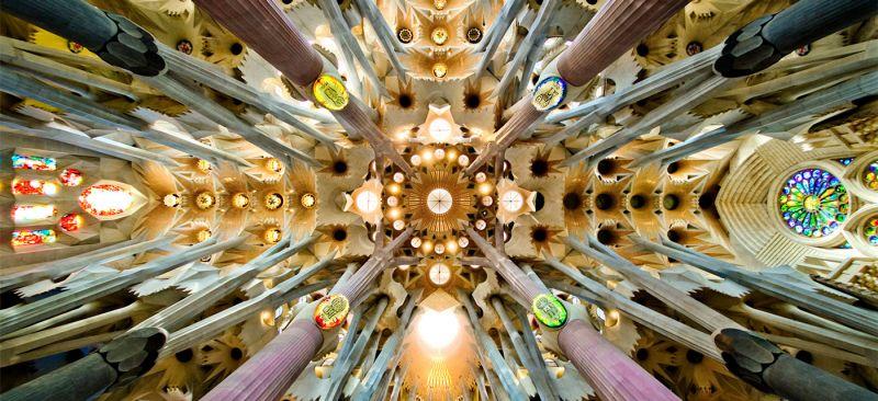 Nave roof detail of the Sagrada Familia, Barcelona