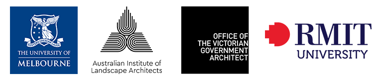 Sponsor logos: The University of Melbourne, Australian Institute of Landscape Architecture, Office of the Victorian Government Architect, RMIT University.