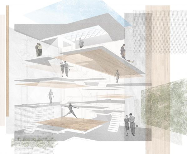 Perspectives - Activating internal circulation space for the residents to interact