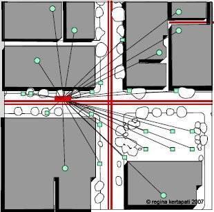 Spider distribution map