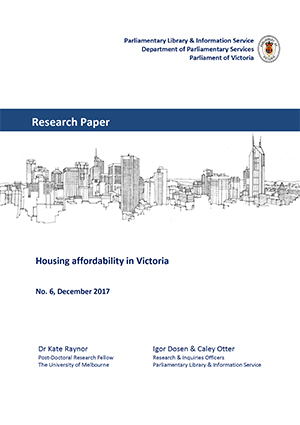 Housing affordability in Victoria