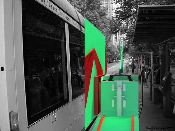WA Loop tram collecting waste