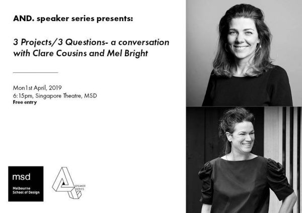 And Speaker Series 2019: Mel Bright and Clare Cousins