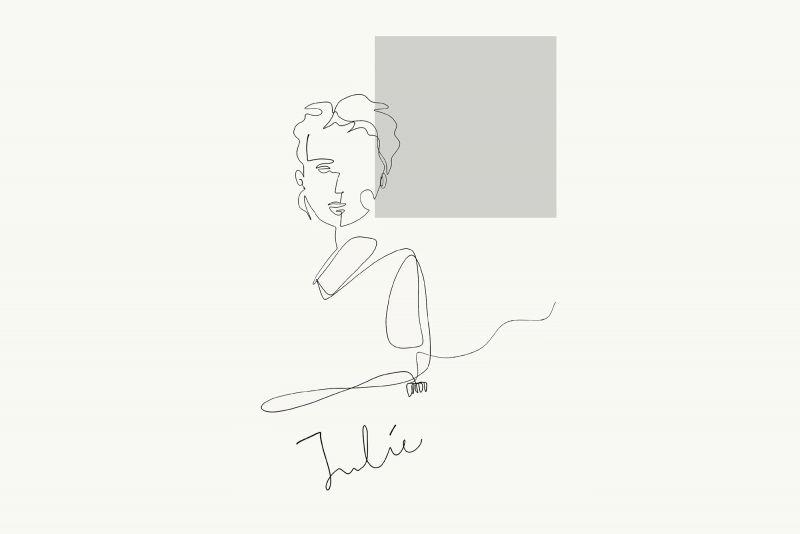 Line sketch of Dean Julie Willis by Grace Yeo.