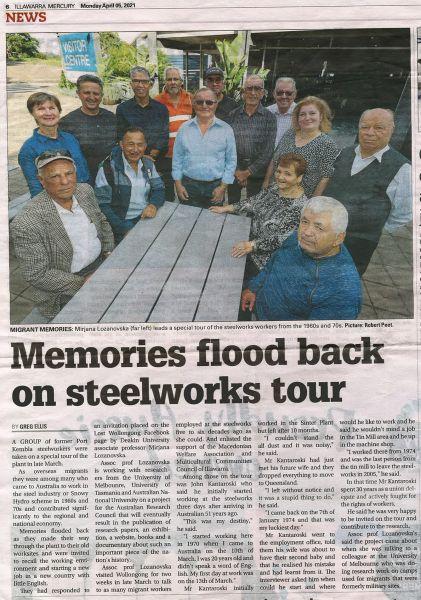 Memories Flood Back on Steelworks Tour