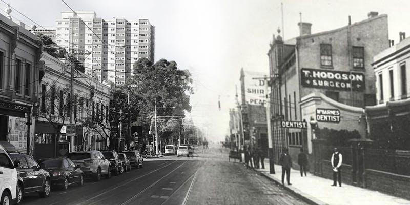 Vintage Fitzroy streetscape