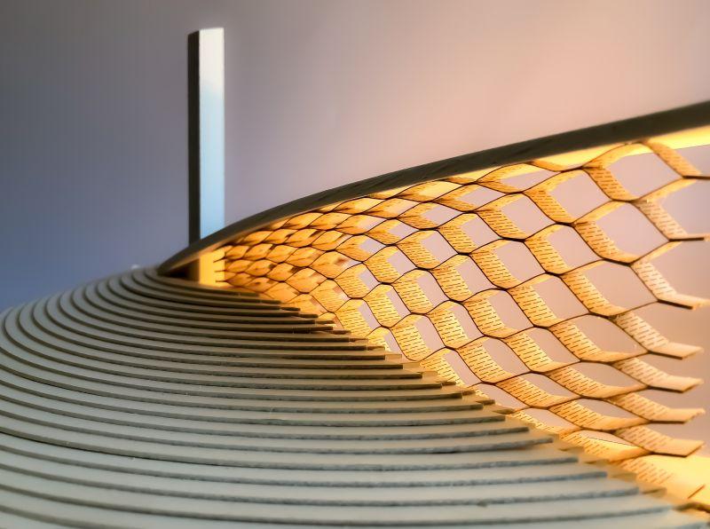 Laser cut flexible pavilion