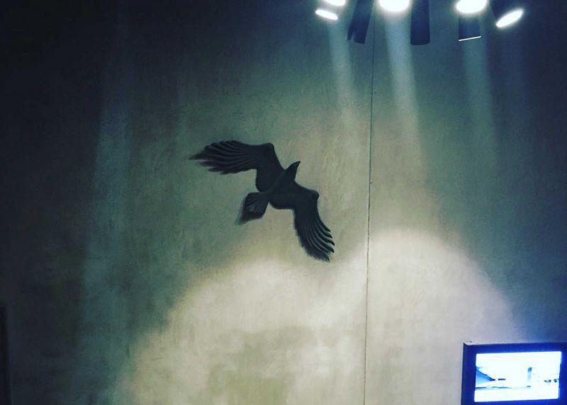 Eagle by Hungarian-born sculptor Andor Meszaros