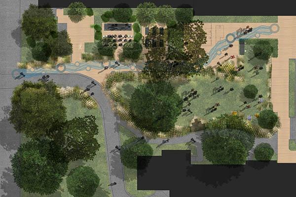 Living Pavilion site plan crop
