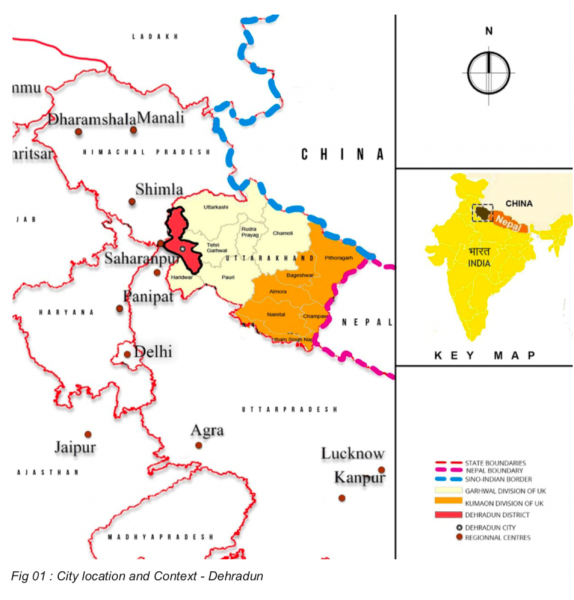 City location and context - Dehradun