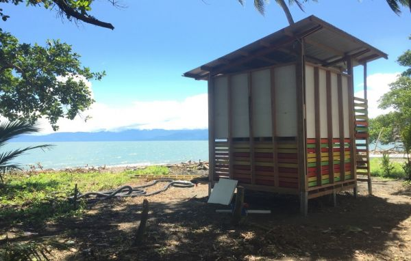 A composting toilet built by Sipaia and the Bower Studio