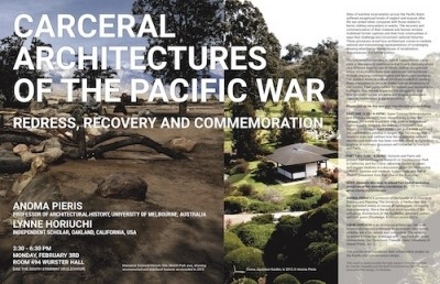 Carceral Architectures of the Pacific War 3 March 2020, UC Berkeley